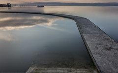 A quiet moment in time (MarkWaidson) Tags: clevedon marine pool le sunset smooth pontoon