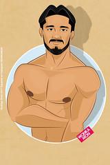 zavala (Rokowonkamon) Tags: male malemodel torso caricatura pecho ilustracion illustration cartoon wonkamon