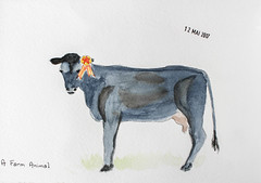May daily challenge 12 - A Farm Animal (chando*) Tags: aquarelle watercolor sketch croquis