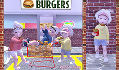 Burger Heist Ft: Lazo, Boogers, Toasty, Beusy (-| A V | S A G E |- Sabby / Kumiko) Tags: lazo boogers beusy besom toasty mesh alice bento td toddleedoo ninetynine secondlife baby toddler