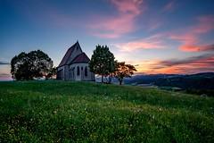 Wenzelskirche (Andreas.W.) Tags: wenzelskirche wartberg mühlviertel oberösterreich samyang wideangle weitwinkel sonnenuntergang sunset evening mood abendstimmung 12mm