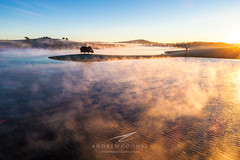 Hidden Gem (Andrew Cooney Photography) Tags: andrewcooney landscapephotography aerialphotography dji phantom 4 pro bathurst cowra western nsw australia australianlandscape drone sunrise lake fog
