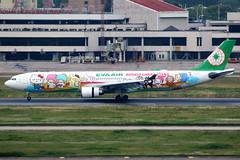 EVA Air | Airbus A330-300 | B-16332 | Sanrio Characters livery | Shanghai Hongqiao (Dennis HKG) Tags: eva br evaair airbus a330 a330300 airbusa330 airbusa330300 aircraft airplane airport plane planespotting shanghai hongqiao zsss sha hellokitty sanrio staralliance b16332 canon 7d 100400