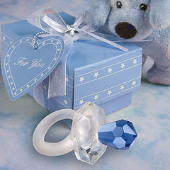 Choice Crystal Blue Pacifier Baby Shower Favours (www.giftsdirecttoyourdoor.co.uk) Tags: bluepacifier dummy soother favour babyshower blue choicecrystal favor