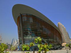 Dubai - Dubai Opera (cnmark) Tags: dubai uae united arabic emirates opera theater theatre building gebäude architecture architektur modern curved dynamic dhow blue sky ©allrightsreserved