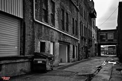 Railroad Alley (MBates Foto) Tags: alley availablelight blackandwhite buildings daylight existinglight monochrome nikkorlens nikon nikond810 pacificnorthwest outdoors spokane streets urban washington unitedstates 99201
