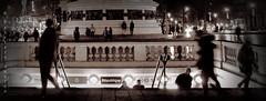 place republique ghost (sanino fabrizio) Tags: place republique notturna night ghost fantasmi figure noir movimento street photography parigi francia urban canon 550d 1855 biancoenero monocromo