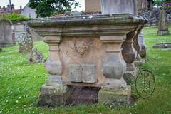 John Blackadder Covenanter Preacher Tomb with a restricted view North Berwick Parish Kirkyard 4 of 5 (PHH Sykes) Tags: reverend john blackadder covenanter north berwick parish kirkyard scotland grave skull crossbones angel book mementomori