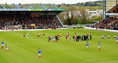 Mansfield v Pompey (Roy Richard Llowarch) Tags: mansfield mansfieldtown mansfieldtownfc thestags stags theyellows yellows fieldmill pompey pompeyfc pompeyfans pompeyfootballclub playuppompey portsmouth portsmouthengland portsmouthfc portsmouthfootballclub pup bluearmy blues portsmouthfans football footballgrounds footballstadiums footballfans footballteams footballclubs soccer soccergrounds soccerstadiums soccerclubs soccerteams soccerfans league2 beautifulgame thebeautifulgame efl fans sports sportsvenues sportstadiums sporting sportsmen nottinghamshire royllowarch royrichardllowarch llowarch spring springtime england englishheritage englishhistory englishfootballfans