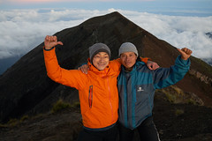At the Summit of Gunung Agung with Gede (Vinchel) Tags: indonesia bali gunung agung volcano outdoor mountain trekking hiking landscape sony rx1m2 people hiker