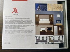 Construction Renovation Notice at the Marriott Burlington (Evan Didier) Tags: hotel marriott burlington massachusetts room kingbedroom construction renovation notice
