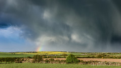 Rough start to the day... (Kenvyn Davies) Tags: 2017 clouds landscape nikond750 pembrokeshire pembrokeshirecoastnationalpark rain rainclouds rainbow sky skyline stormclouds tamronsp2470mmf28divcusd wales storm cymruwales