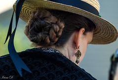 Lady with a hat (Irina1010_OFF) Tags: lady woman hat strawhat ribbon hair earing 34th timeperiod reenactment barringtonhall canon bun outstandingromanianphotographers