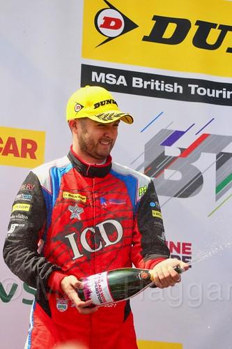 Jack Goff on the podium at Thruxton, May 2017