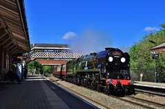34052 Lord Dowding Cathedrals Express to Stratford (Martin Creese) Tags: steam dreams stratfordonavon 34052 34046 lord dowding nikon d90 photography railway main line warwickshire northwarwicksline
