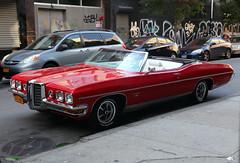 1970 Pontiac Bonneville (vetaturfumare - thanks for 2 MILLION views!!!) Tags: pontiac bonneville fullsize convertible cabriolet jänkare raggare topdown nyc graffiti