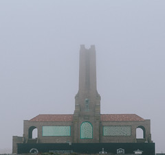 Protect Her Glory (Dalliance with Light (Andy Farmer)) Tags: jersey beach ocean steamplant boardwalk asburypark nj architecture fog woodenwallsproject art shore neptunetownship newjersey unitedstates us
