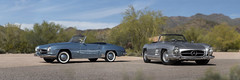 Two of a Kind - Mercedes-Benz 190SL and 300SL Roadsters (Desert-Motors Automotive Photography) Tags: mercedes mercedesbenz 300sl 190sl roadster roadsters