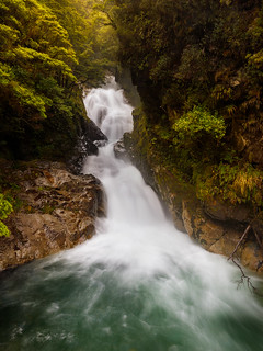 Falls around Milford Sound