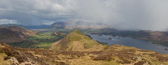 Approaching Storm. (DP the snapper) Tags: catbells newlandsvalley turbo lakes skiddaw derwentwater snowstorm panorama highspywalk keswick heggleheadapril17 cockapoo