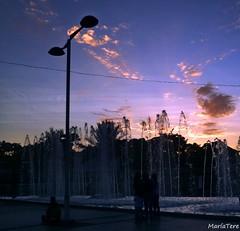 Fuentes... (MariaTere-7) Tags: fuentes plaza miranda ccmilenium caracas venezuela maríatere7 cielo nubes