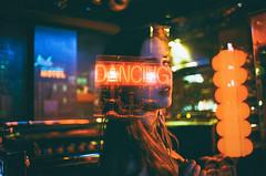 I don't feel like (Louis Dazy) Tags: 35mm analog film double exposure diner dark neon lights bokeh