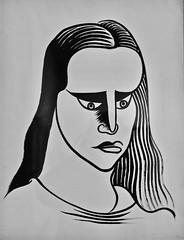 Untitled(undated) - José de Almada Negreiros (1893-1970) (pedrosimoes7) Tags: josédealmadanegreiros caloustegulbenkianmuseum moderncollection lisbon portugal ✩ecoledesbeauxarts✩ artgalleryandmuseums blackwhitepassionaward portrait desenho drawing people gente