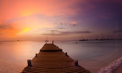 Pier Fishing-0346 (MVMoorePhotography) Tags: fishing surf beach sunset clouds color vibrance pier water sea caribbean vacation