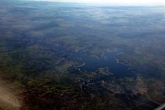 Aerial over Madrid-5 (meg williams2009) Tags: aerialview europe spain salamanca redservoir dam manmadelake embalsedealmendra villarinodam