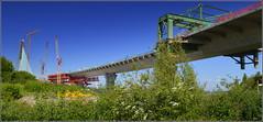 Mersey Gateway Project (Rubrica Bridges Wing Traveller) Wigg Island Runcorn 4th May 2017 (Cassini2008) Tags: merseygatewayproject rubricabridgeswingtraveller bridgeconstruction viaduct construction wiggisland