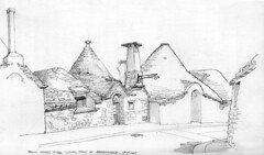 Trulli houses in the residential area of Alberobello, 18th April 2017
