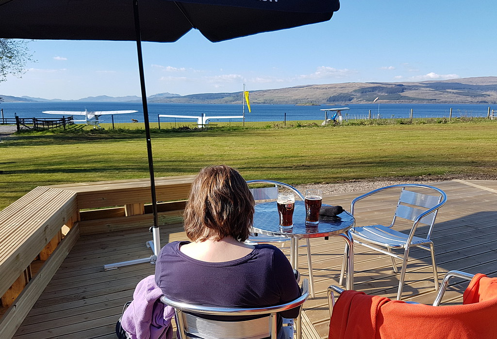 A pint with a view at Glenforsa