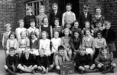 Class photo (theirhistory) Tags: boys girls children school primary junior jacket jumper shorts shirt shoes wellies slate wellingtons