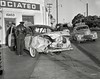 Oakland circa 1953. (Radio Man Mike) Tags: police oakland oaklandpd oaklandpolice opd carcrash collision accident