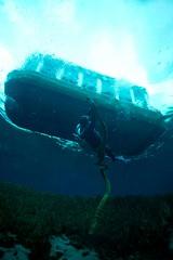 Vintage scuba divers with double hose regulators (Vintage Scuba) Tags: double hose scuba diver dive us voit regulator wetsuit smooth skin rubber beavertail jacket pants tank mask fins harness weight belt
