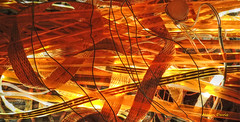 ribbons (albyn.davis) Tags: ribbons color bright vivid vibrant light abstract orange gold yellow