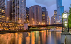 Near Disaster (tquist24) Tags: chicago chicagoriver hdr illinois nikon nikond5300 northcolumbusdrive riveresplinade trumptower williampfaheybridge bridge buildings city clouds geotagged lights longexposure reflection reflections river sky skyscrapers tree trees water unitedstates