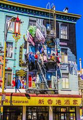 Chinatown Laundry (Dan Baldini) Tags: sanfrancisco sf california street laundry clothes chinatown building architecture mural