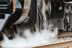 Steam-driven wheels. (alloyjared) Tags: 611 classj dawnsperspective fireup611 nw nw611 norfolkwestern norfolksouthern steam steamlocomotive train virginia