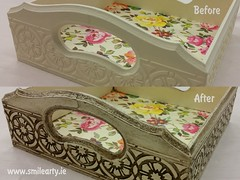 Example of Ageing Effect (Smile Arty) Tags: gift present vintage handmade decoupage crafts arts paint supplies napkins stensils box mdf diy ageing effect