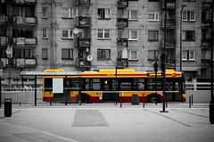 Łódź (whitearrowphoto) Tags: łódź poland selective desaturation bus