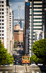 Something vintage right in the heart of the modern world (Rabican7) Tags: california sanfrancisco cablecar vintage streetphotography streetphoto road bayareabridge