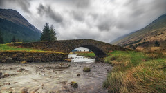 The Butter Bridge, Glen Kinglas (Stefan (back from Scotland, but need some time)) Tags: bridge highlands butterbridge argyll argyllandbute glencroe restandbethankful scotland unitedkingdom arrochar river water longtimeexposure lte langzeitbelichtung brücke schottland trees clouds sky cloudscape dramatic sony a7ii sel1635z sonyfe16354 sonya7ii
