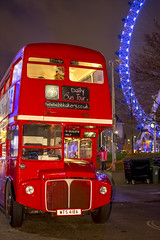 Invited guests only (London Lights) Tags: londonlights invitedguestsonly london lights londres londra red bus night nightshot nighttimelondon londresanuit londresdenoche londoneye