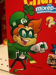 Green Lantern of Earth Cereal (earthdog) Tags: 2017 food package edible cereal greenlantern dccomics luckycharms leprechaun lgenexus5x lge nexus 5x androidapp cameraphone moblog