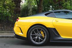 Unexpected (Beyond Speed) Tags: ferrari 599 gto supercar supercars car cars automotive automobili nikon v12 yellow london carbon black