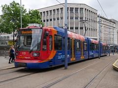 Sheffield Supertram 115 (Boothby97) Tags: sheffieldsupertram tram stagecoach yorkshire siemensduewag sheffield castlesquare 750vdcelectric 750vdc yellowline supertram115