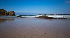 Beach of Goulien (khan.Nirrep.Photo) Tags: beach plage presquile pose paysage landscape iroise finistère ciel litoral rocher rocks rochers reflet bretagne breizh bleu blue beauté falaise f4 flickrsbest