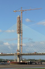 A Tower for the New Runcorn Widnes Bridge. (ElitePhotobox) Tags: tower new runcorn widnes bridge mersey gateway