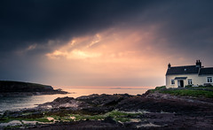 The Weekend Getaway (garethleethomas) Tags: moody dramatic holiday coast sky sunset clouds rocks seaside beach uk landscape seascape